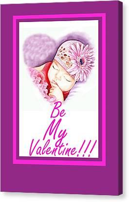 Be My Valentine Canvas Print - Sweet Valentine  by Irina Sztukowski