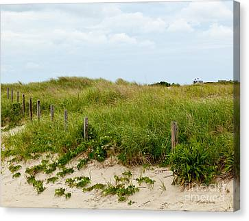 Sweetest Silence By The Sea Canvas Print by Michelle Wiarda