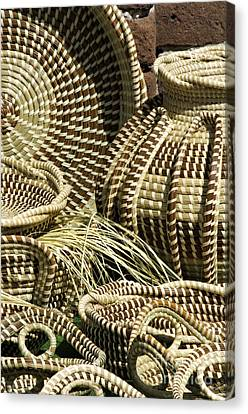 Sweetgrass Baskets - D002362 Canvas Print by Daniel Dempster