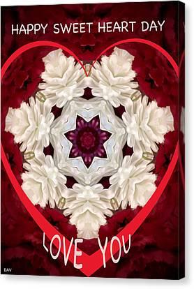 Sweetheart Card Canvas Print by Debra     Vatalaro