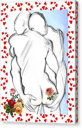 Sweethearts - Valentine's Cards Canvas Print by Carolyn Weltman