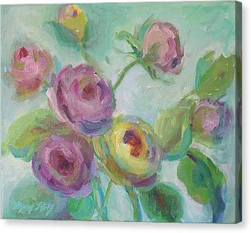 Canvas Print featuring the painting Sweetness Floral Painting by Mary Wolf