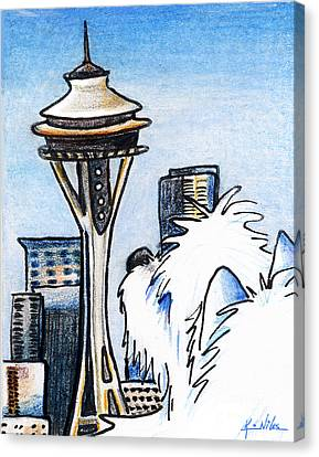 Sweetness In Seattle Canvas Print by Kim Niles