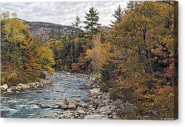 Canvas Print featuring the photograph Swift River Autumn  by Richard Bean