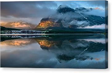 Swiftcurrent Lake Sunrise Canvas Print by Dan Mihai