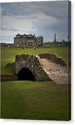 Swilken Bridge Vignette St Andrews Old Course Scotland Canvas Print by Sally Ross
