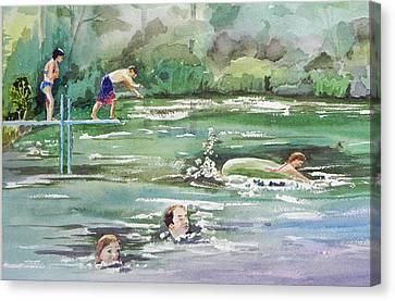Swim At Little Elk Lake Canvas Print