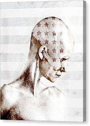 Swimmer Canvas Print by Johan Lilja