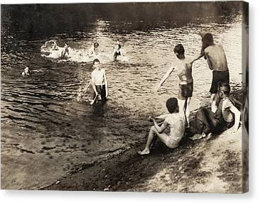 Swimming Hole, 1916 Canvas Print by Granger