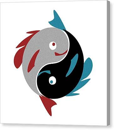 Swimming In Harmony Canvas Print by Anastasiya Malakhova