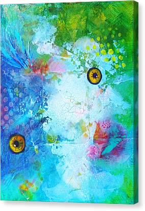 Swimming Canvas Print by Nancy Merkle