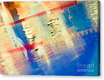 Swimming Pool 01b - Abstract Canvas Print by Pete Edmunds
