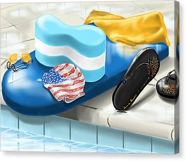 Swimming Pool Canvas Print by Veronica Minozzi