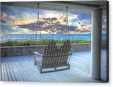 Swing At The Beach Canvas Print