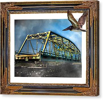Swing Bridge Canvas Print by Betsy Knapp