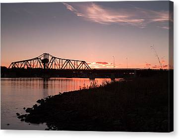 Swing Bridge Canvas Print by Patrick Flaherty
