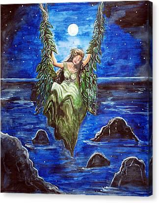 Swing In Moonlight Canvas Print by Saranya Haridasan