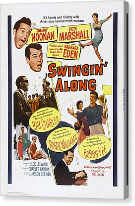 Swingin Along, Us Poster Art, Clockwise Canvas Print by Everett