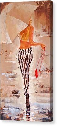 Black Boots Canvas Print - Swingin Two by Laura Lee Zanghetti