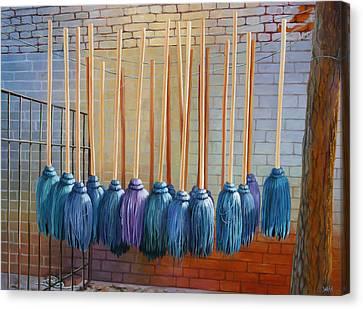 Swinging Blues Canvas Print by Sue  Darius