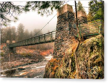 Canvas Print featuring the photograph Swinging Bridge Before The Storm by Mark David Zahn