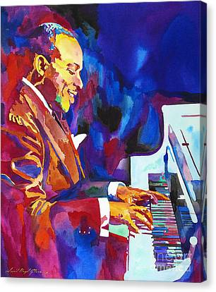 Swinging With Count Basie Canvas Print by David Lloyd Glover