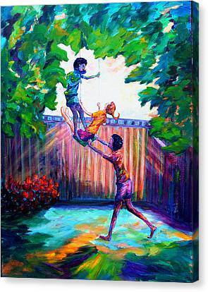 Swinging With Friends Canvas Print by Naomi Gerrard