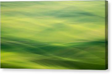 Swipe Of Palouse Rolling Hills Canvas Print