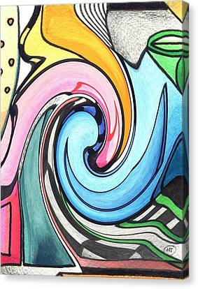 Swirled Canvas Print by Helena Tiainen