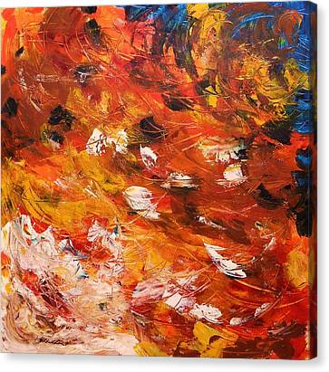 Canvas Print featuring the painting Swirling And Dancing by John Williams