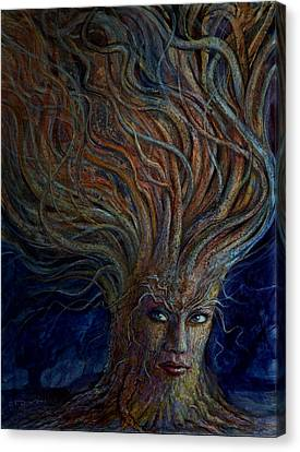 Tree Creature Canvas Print - Swirling Beauty by Frank Robert Dixon