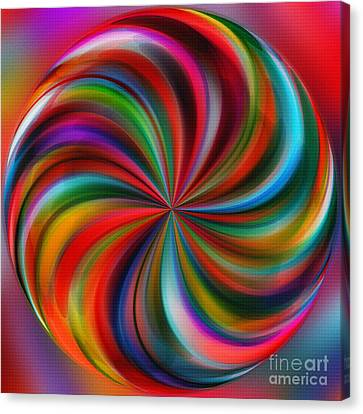 Swirling Color By Kaye Menner Canvas Print by Kaye Menner