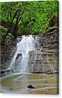 Marvelous View Canvas Print - Swirling Falls by Frozen in Time Fine Art Photography