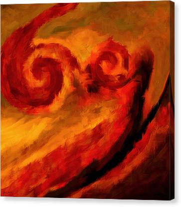 Swirling Hues Canvas Print by Lourry Legarde