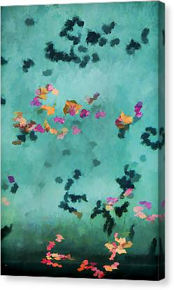 Swirling Leaves And Petals 5 Canvas Print