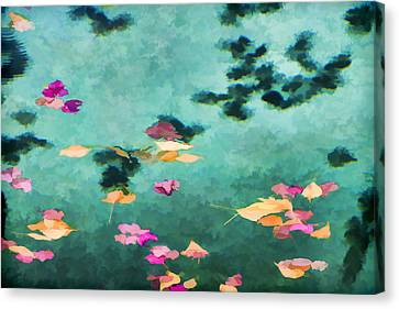 Swirling Leaves And Petals 6 Canvas Print