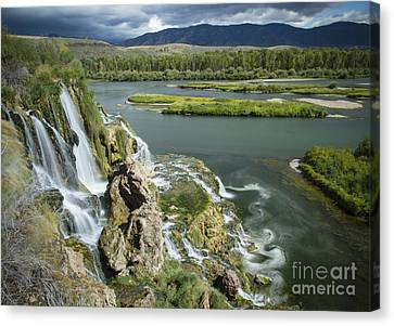 Swirling Waters Canvas Print by Idaho Scenic Images Linda Lantzy
