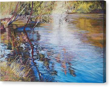 Swirls And Ripples - Goulburn River Canvas Print by Lynda Robinson