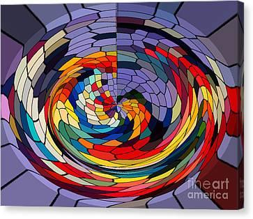 Swirls Canvas Print by Gabriele Mueller