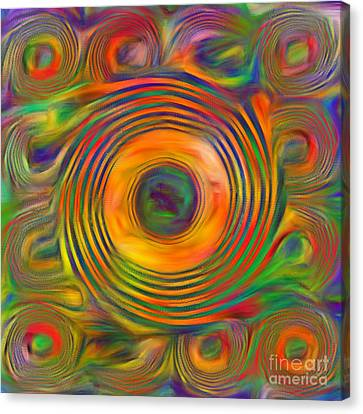 Canvas Print featuring the photograph Swirls by Geraldine DeBoer