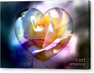 Swirls Of Love And Hope Canvas Print by Judy Palkimas