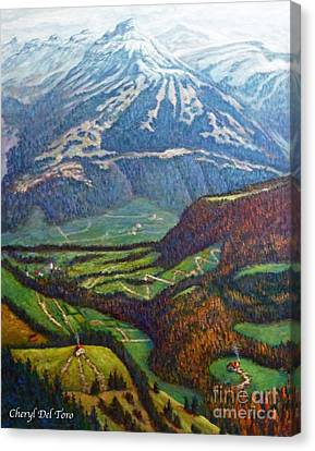 Swiss Alps Canvas Print by Cheryl Del Toro