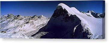 Swiss Alps From Klein Matterhorn Canvas Print by Panoramic Images