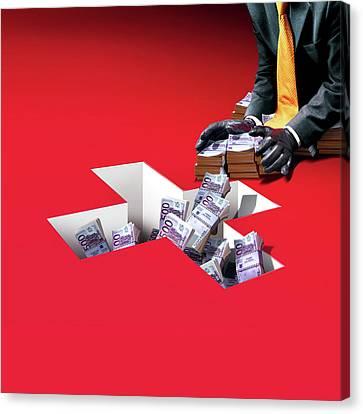 Swiss Canvas Print - Swiss Banking by Smetek