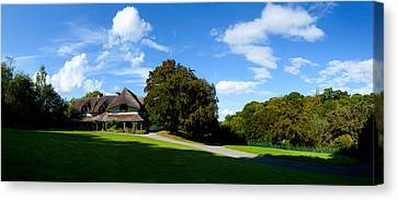 Swiss Cottage Cottage Ornee On A Hill Canvas Print by Panoramic Images