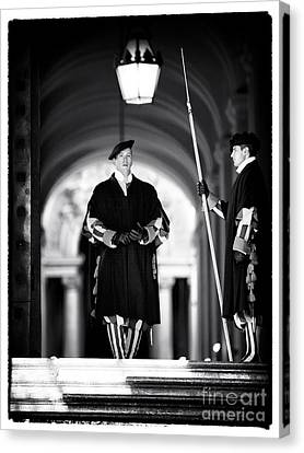 Swiss Guards Canvas Print by John Rizzuto