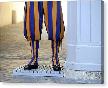 Swiss Guards. Vatican Canvas Print by Bernard Jaubert