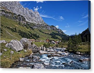 Swiss Mountains Canvas Print by Joachim G Pinkawa