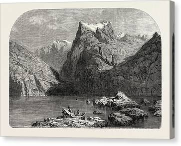 Lucerne Canvas Print - Swiss School. Lake Lucerne by Calame, Alexandre (1810-1864), Swiss