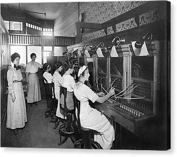 Switchboard Operators Canvas Print by Underwood Archives
